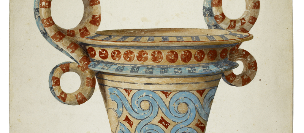 Polychrome pot from a tomb at Isopata, near Knossos